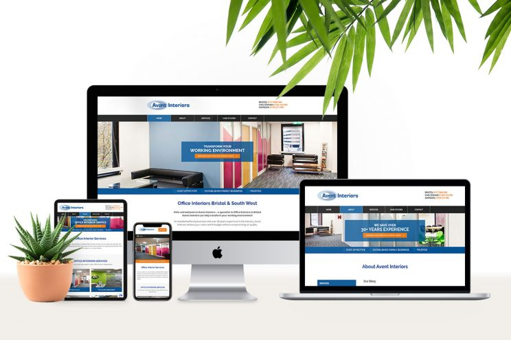 Website design for Avent Interiors in Bristol