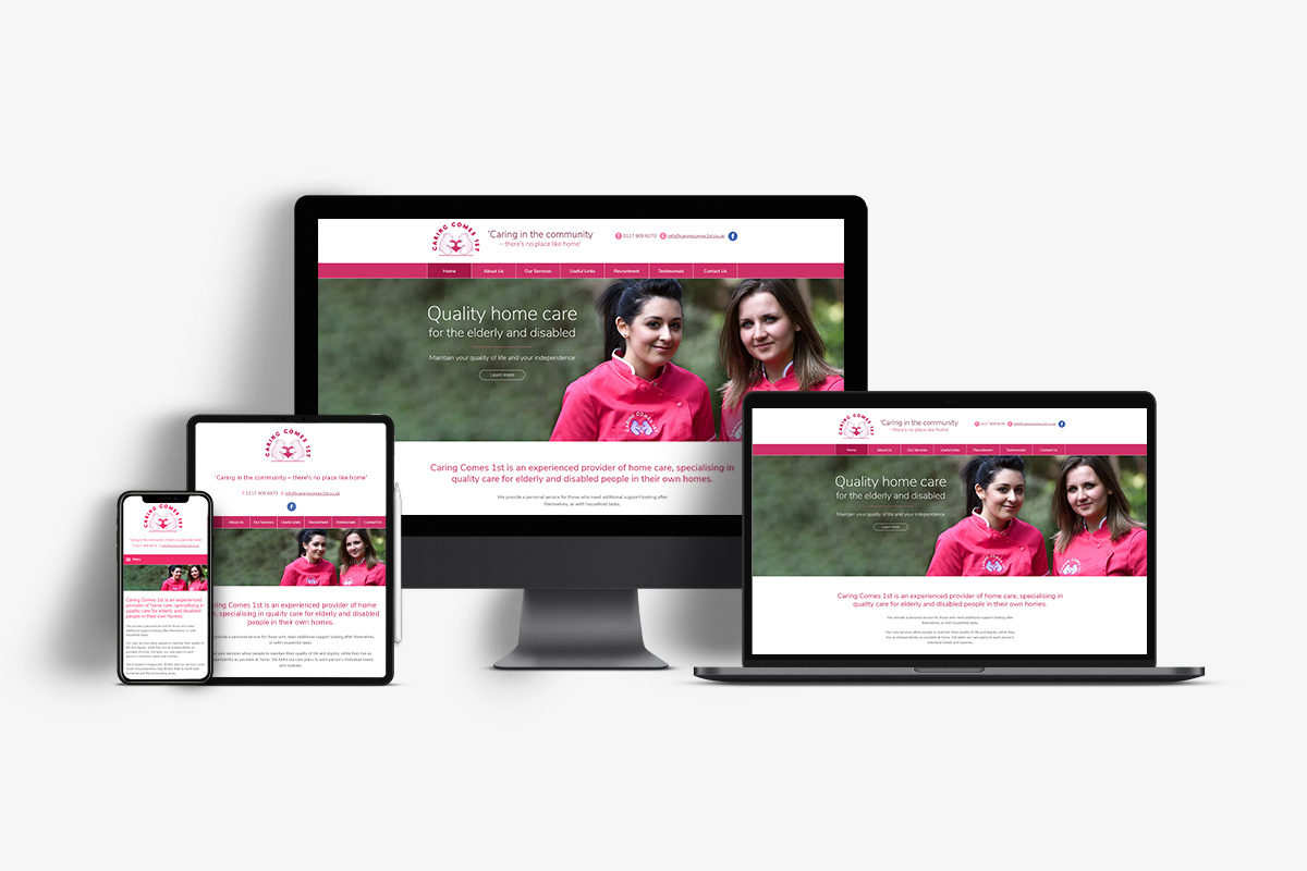 Website design for a care company in Bristol