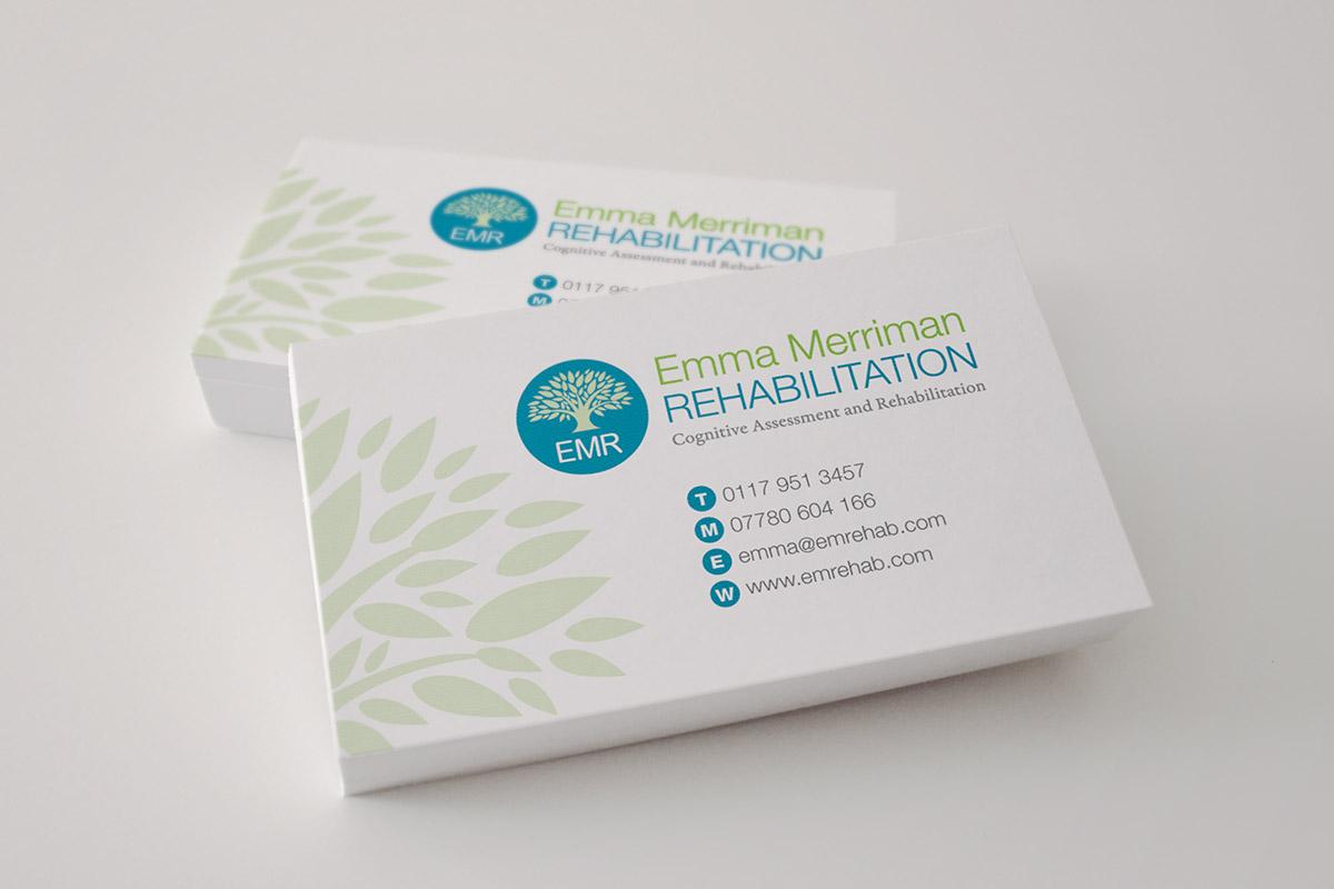 Business card design for Emma Merriman