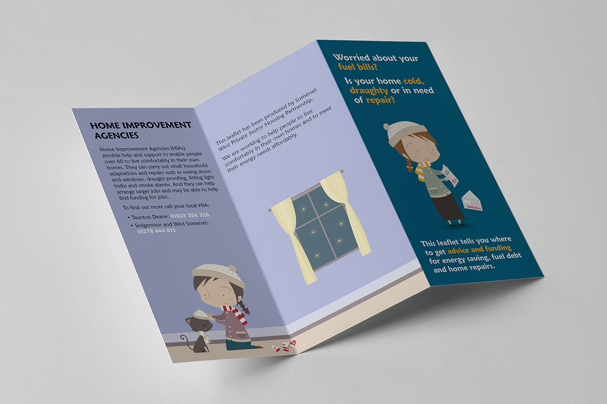 Leaflet design for Climate Works