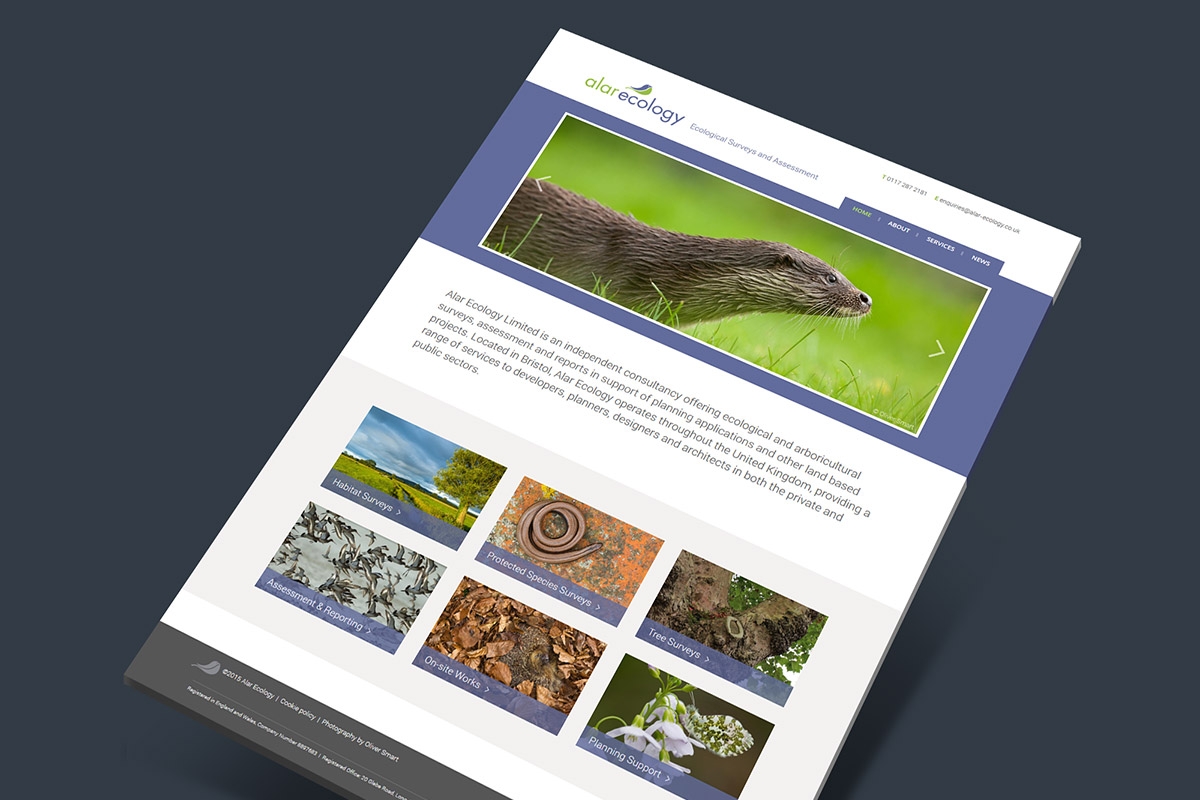 Website design for Alar Ecology