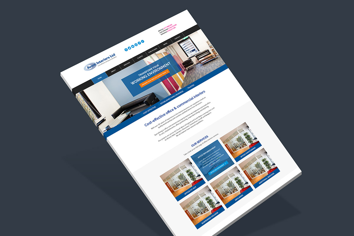 Website design and build for Avent Interiors