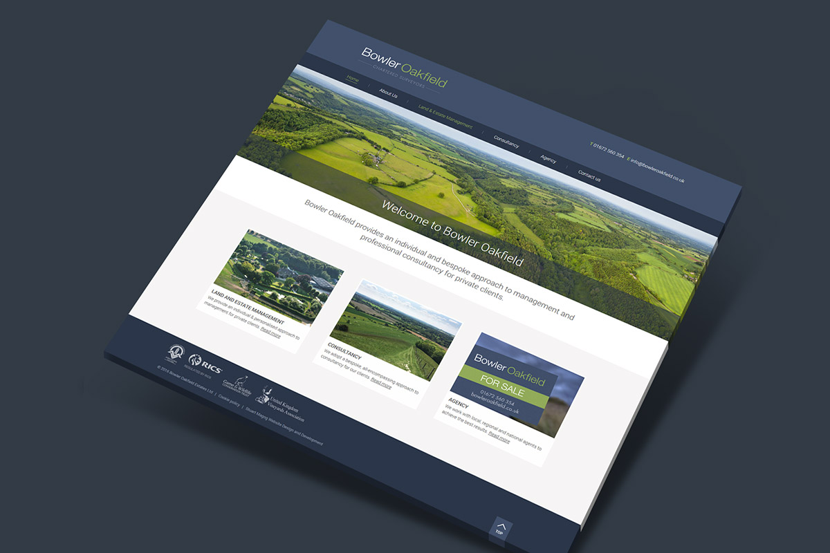 Website design for Bowler Oakfield