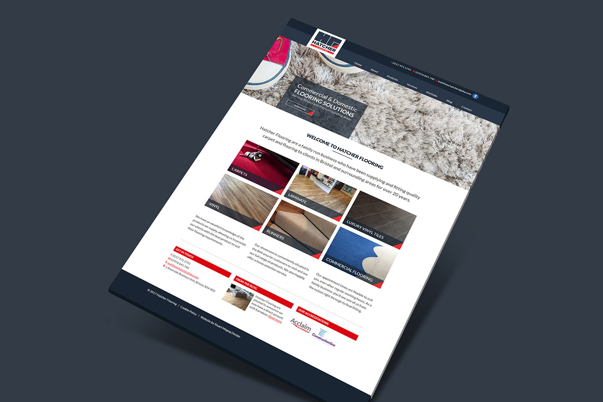 Website design and build for Hatcher Flooring