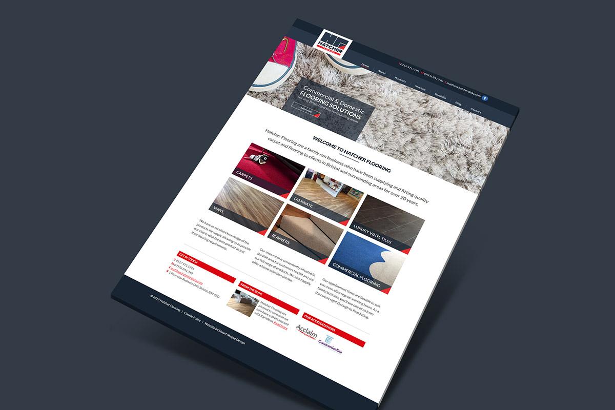 Website design and build for Hatcher Flooring