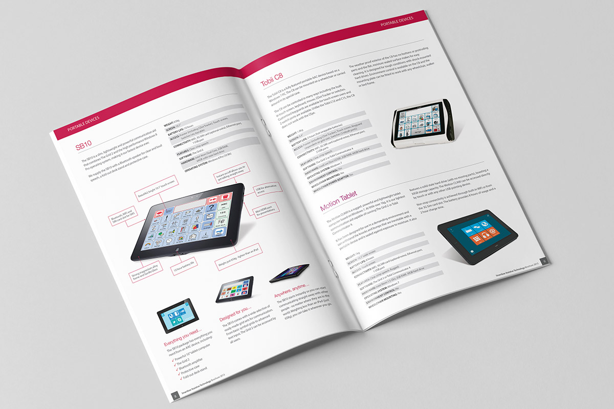 Brochure inner spread for Smartbox