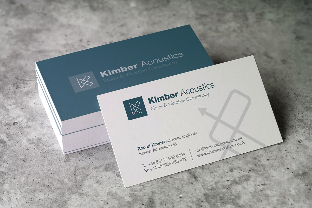 Business card and logo design for Kimber Acoustics