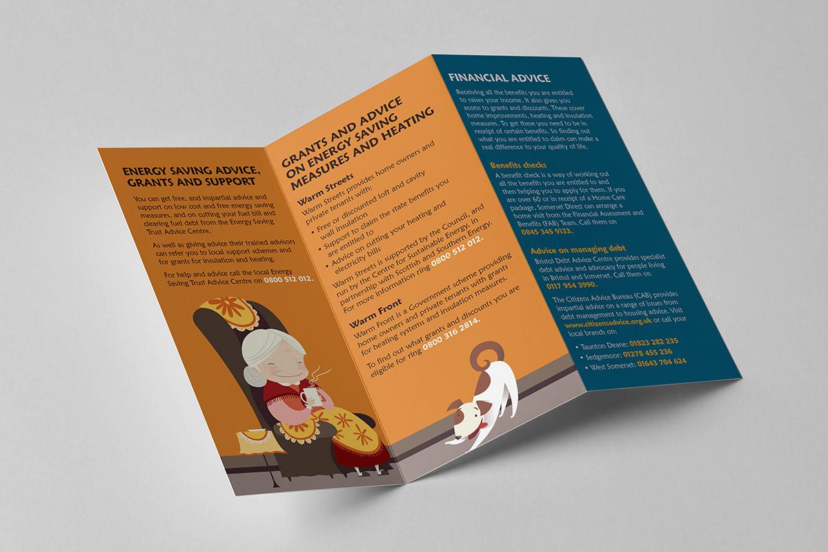 Leaflet design for Climate Works