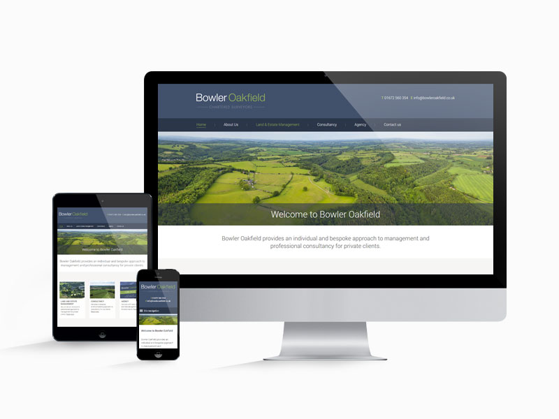 Website design for Bowler Oakfield on several different devices