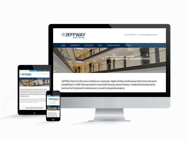 Responsive web design for the JeffWay Group