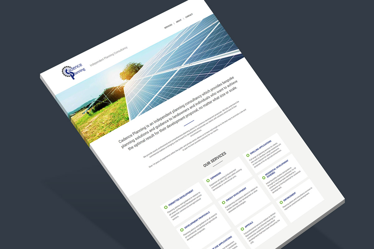 WordPress Website design for Cadence Planning
