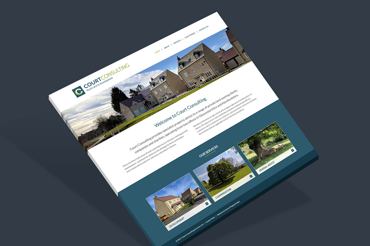 WordPress website design for Court Consulting
