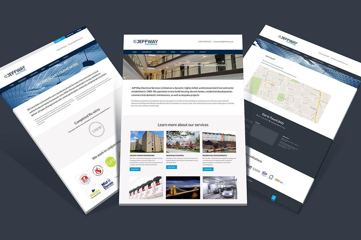 WordPress website design and build for the JeffWay Group