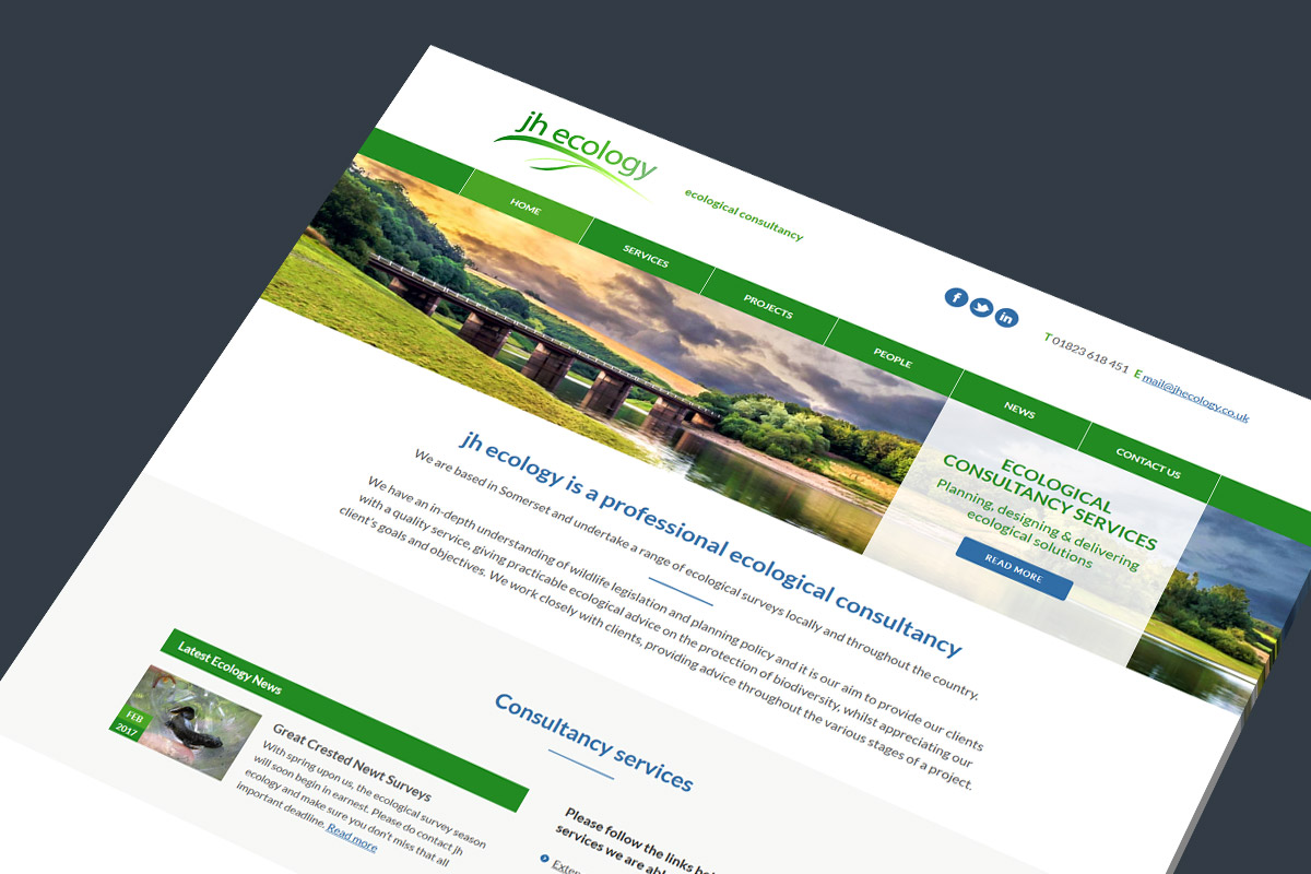 WordPress website design and build for JH Ecology