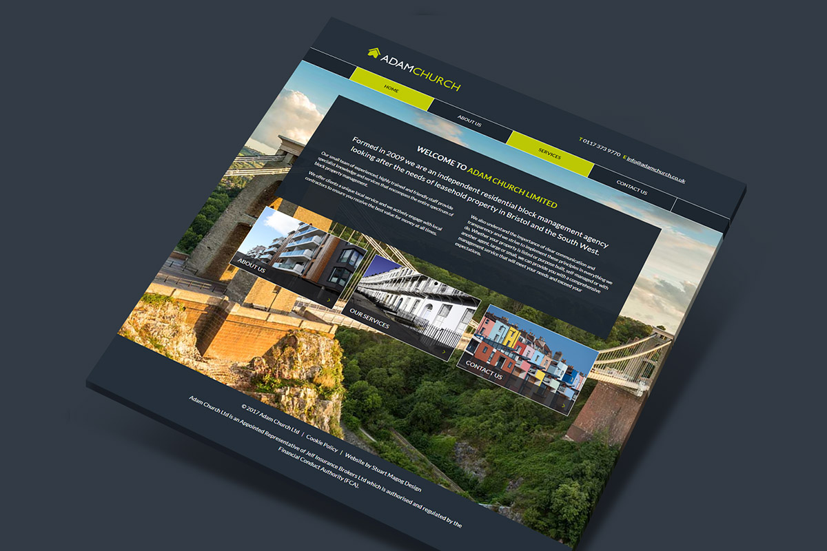 WordPress website design and build for Adam Church Property Management