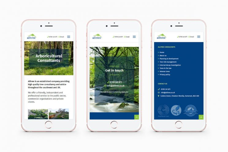 Responsive website design for Alltree Consultants