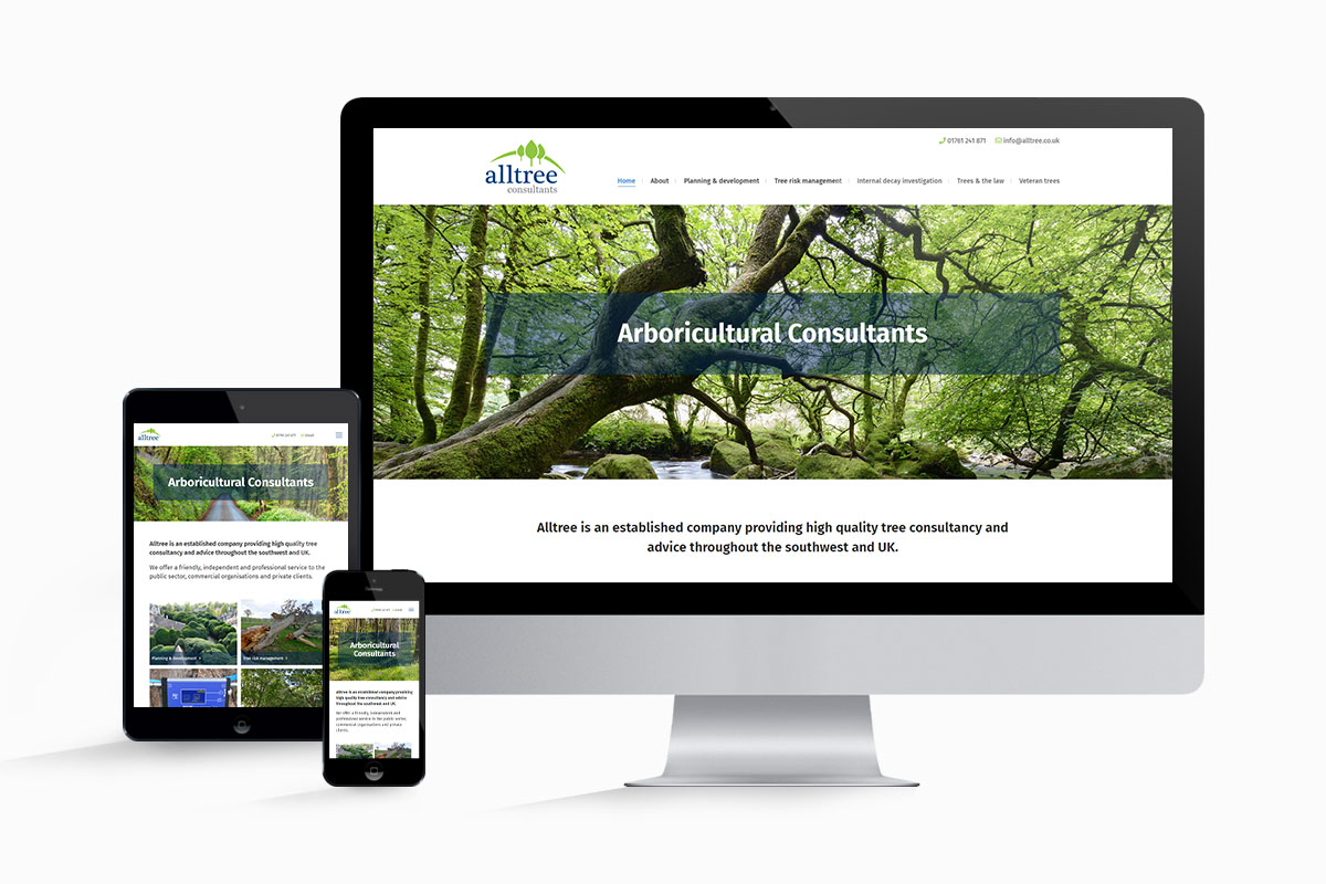 WordPress website design and build for Alltree Consultants