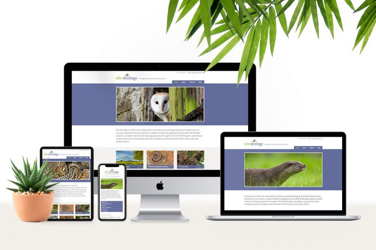 Responsive web design for Alar Ecology