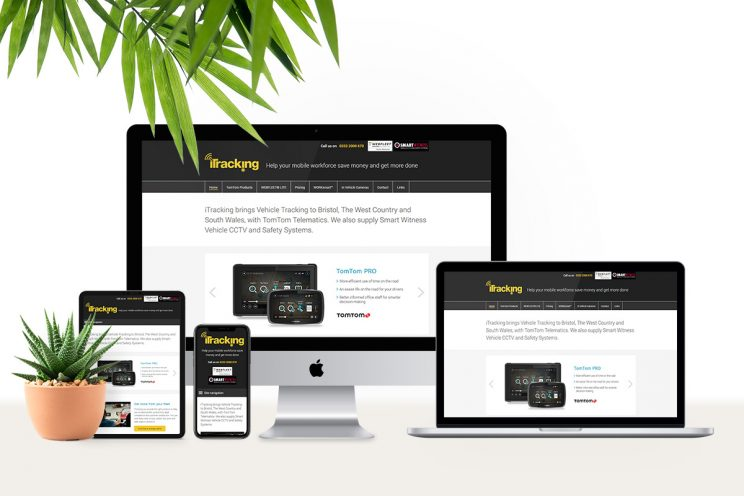 WordPress website design for iTracking