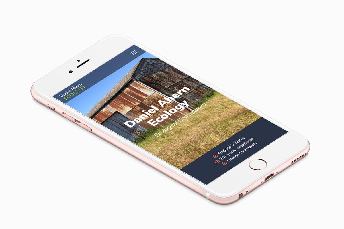 Daniel Ahern Ecology Web Design on Mobile