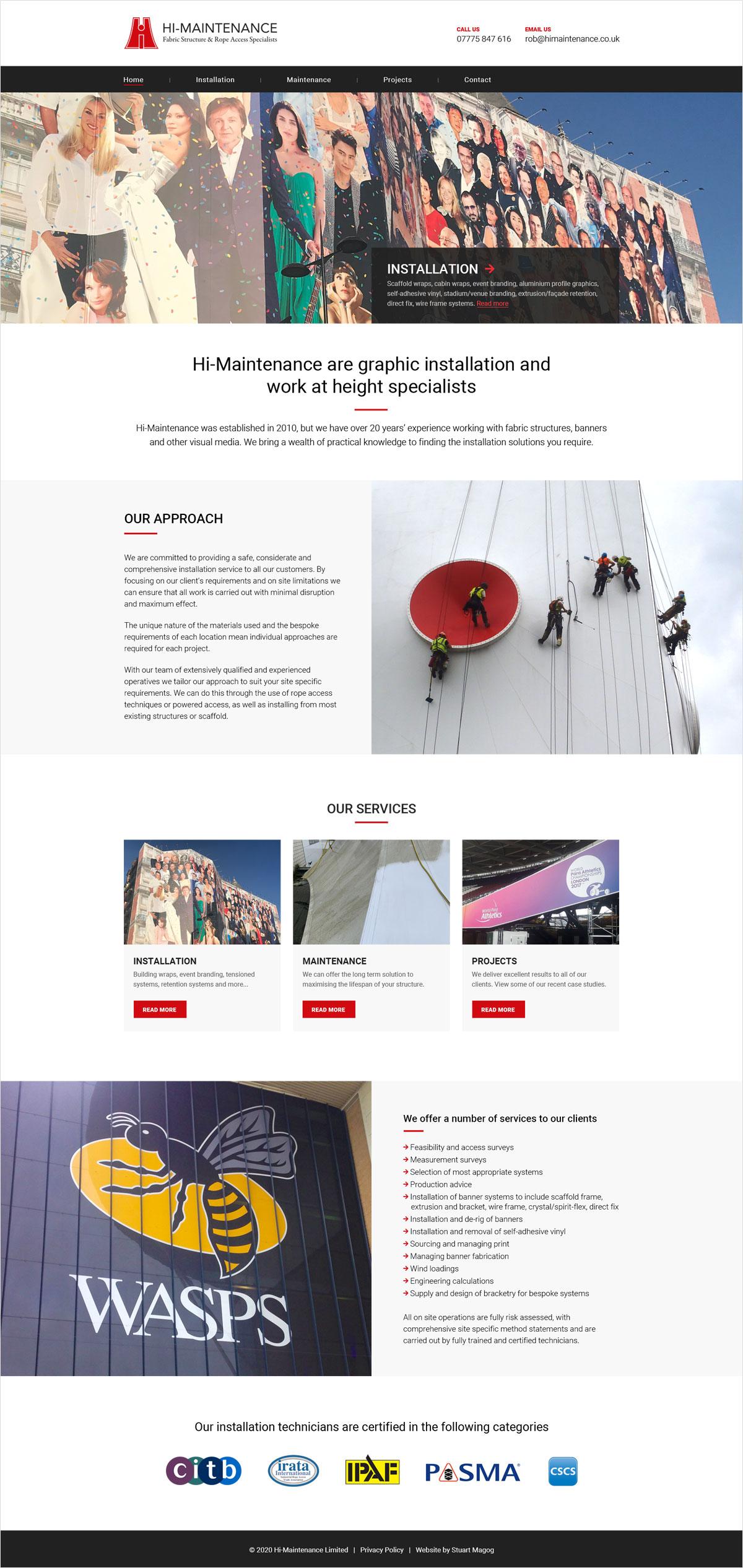 WordPress web design for Hi-Maintenance